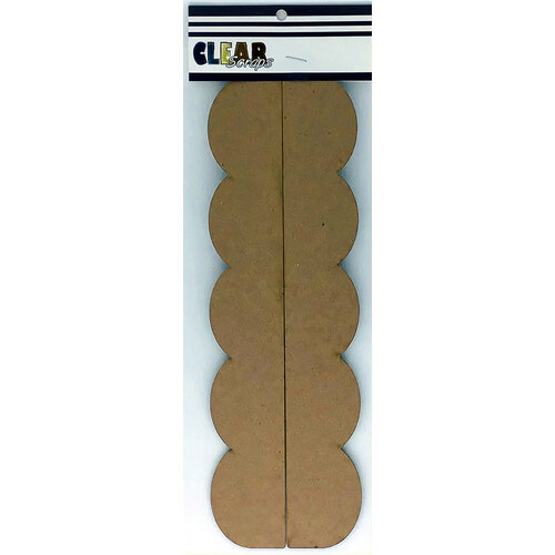 Clear Scraps - Chipboard Cut Apart Borders - Slimline - 2 Pack - Scallop