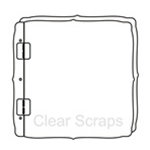 Clear Scraps - 8 x 8 Top Load Album - Cast Acrylic - Deco