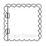 Clear Scraps - 8 x 8 Top Load Album - Cast Acrylic - Scallop