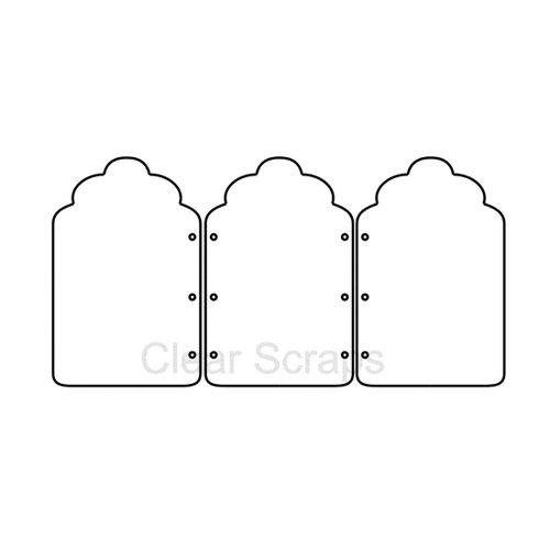 Clear Scraps - Cast Acrylic - Frames - Scallop