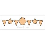 Clear Scraps - Chipboard Banner - Birthday