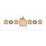 Clear Scraps - Chipboard Banner - Gingerbread