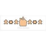 Clear Scraps - Chipboard Banner - Gingerbread