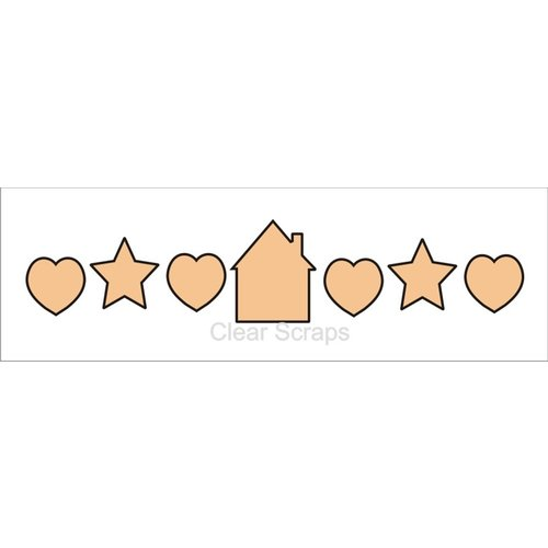 Clear Scraps - Chipboard Banner - Home Sweet Home