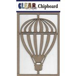 Clear Scraps - Chipboard Embellishments - Air Balloon