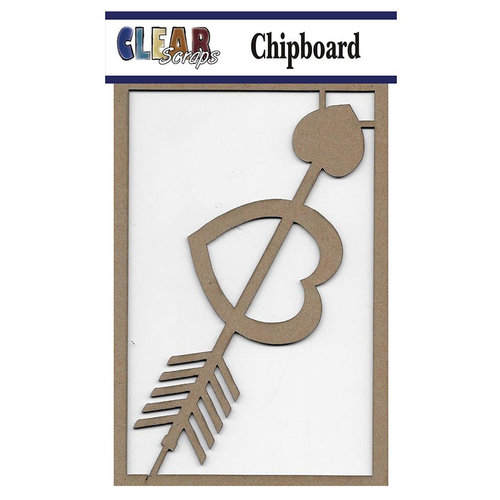 Clear Scraps - Chipboard Embellishments - Arrow Heart