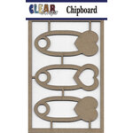 Clear Scraps - Chipboard Embellishments - Baby Pins