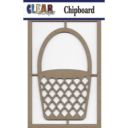 Clear Scraps - Chipboard Embellishments - Basket