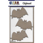 Clear Scraps - Halloween - Chipboard Embellishments - Bats