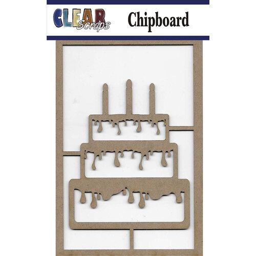 Clear Scraps - Chipboard Embellishments - Birthday Cake