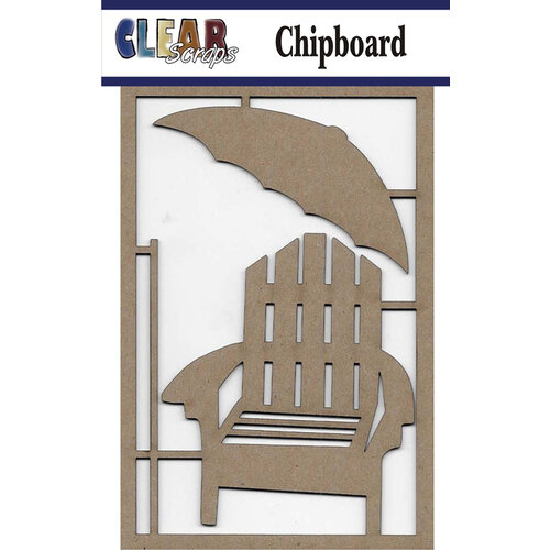 Clear Scraps - Chipboard Embellishments - Beach Chair