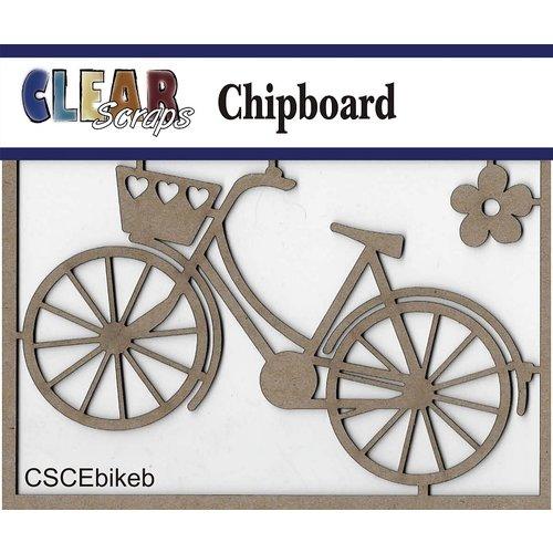 Clear Scraps - Chipboard Embellishments - Bike with Basket
