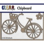 Clear Scraps - Chipboard Embellishments - Bike with Basket