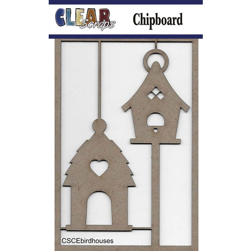 Clear Scraps - Chipboard Embellishments - Bird Houses