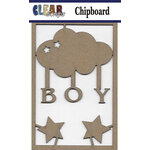 Clear Scraps - Chipboard Embellishments - Boy Cloud