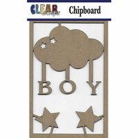 Clear Scraps - Chipboard Embellishments - Boy Cloud