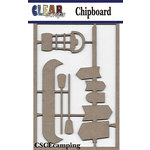 Clear Scraps - Chipboard Embellishments - Camping