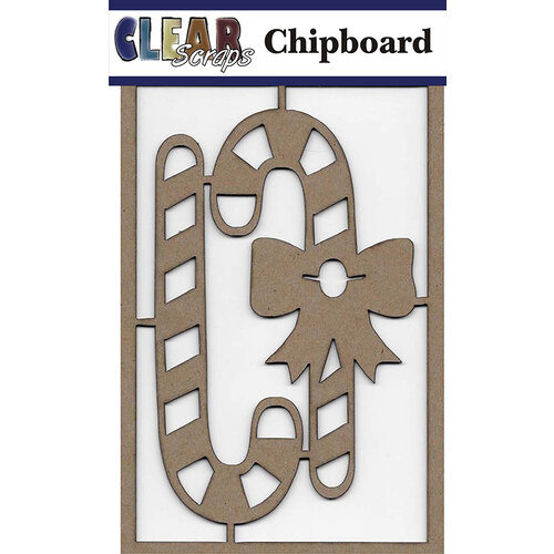 Clear Scraps - Christmas - Chipboard Embellishments - Candy Canes