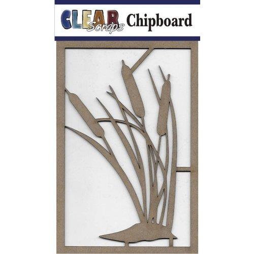 Clear Scraps - Chipboard Embellishments - Cattail