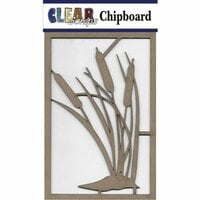 Clear Scraps - Chipboard Embellishments - Cattail