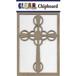 Clear Scraps - Chipboard Embellishments - Celtic Cross