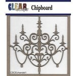 Clear Scraps - Chipboard Embellishments - Chandelier 1