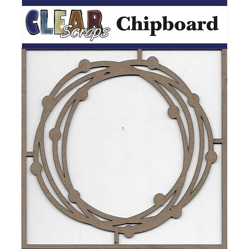 Clear Scraps - Chipboard Embellishments - Circle Dots