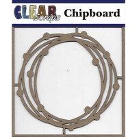 Clear Scraps - Chipboard Embellishments - Circle Dots