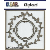 Clear Scraps - Chipboard Embellishments - Circle Vines