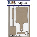 Clear Scraps - Chipboard Embellishments - Cooking Utensils