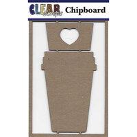 Clear Scraps - Chipboard Embellishments - Coffee Mug