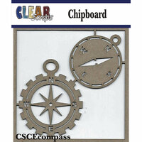 Clear Scraps - Chipboard Embellishments - Compasses
