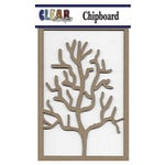 Clear Scraps - Chipboard Embellishments - Coral