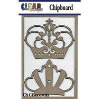 Clear Scraps - Chipboard Embellishments - Crowns