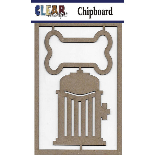 Clear Scraps - Chipboard Embellishments - Dog Bone
