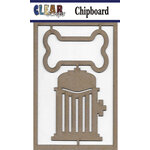 Clear Scraps - Chipboard Embellishments - Dog Bone