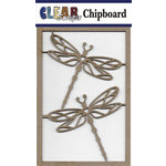 Clear Scraps - Chipboard Embellishments - Dragonflies