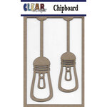 Clear Scraps - Chipboard Embellishments - Edison Lights