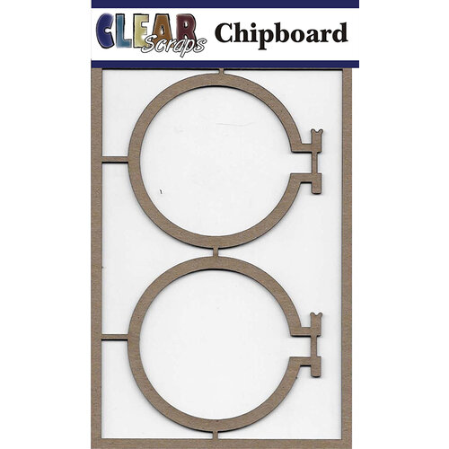 Clear Scraps - Chipboard Embellishments - Embroidery Hoops