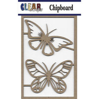 Clear Scraps - Chipboard Embellishments - Fancy Butterflies