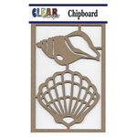 Clear Scraps - Chipboard Embellishments - Fan Shells