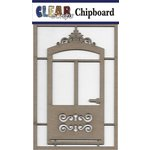 Clear Scraps - Chipboard Embellishments - Fancy Door