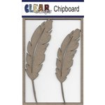 Clear Scraps - Chipboard Embellishments - Feathers