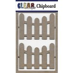 Clear Scraps - Chipboard Embellishments - Fences