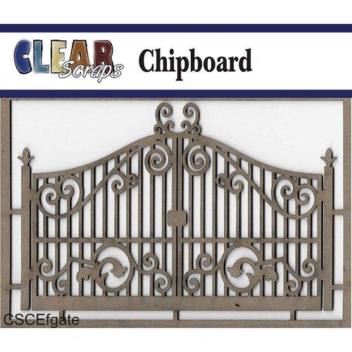 Clear Scraps - Chipboard Embellishments - Fancy Gate