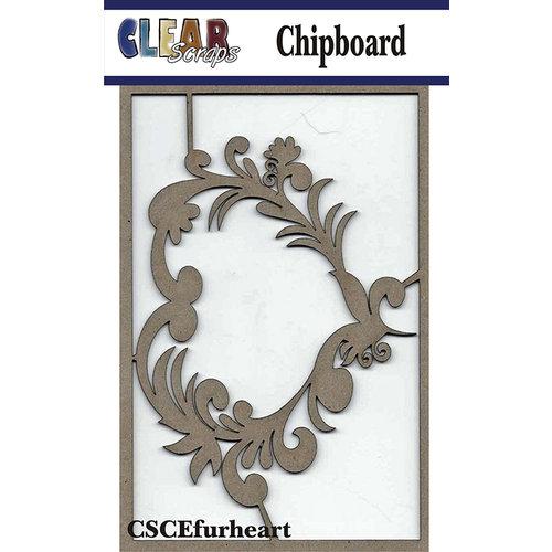 Clear Scraps - Chipboard Embellishments - Flourish Heart