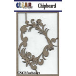Clear Scraps - Chipboard Embellishments - Flourish Heart