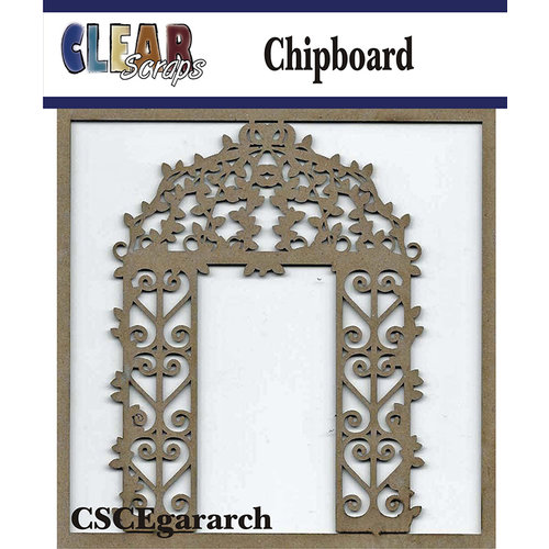Clear Scraps - Chipboard Embellishments - Garden Arch