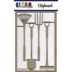 Clear Scraps - Chipboard Embellishments - Garden Tools