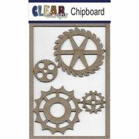 Clear Scraps - Chipboard Embellishments - Wheel Gears
